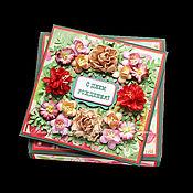 Открытки ручной работы. Ярмарка Мастеров - ручная работа Открытка ко дню рождения (в коробочке). Handmade.