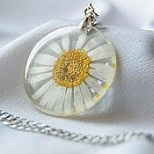 Украшения handmade. Livemaster - original item Round earrings and pendant resin jewelry with real flowers. Handmade.