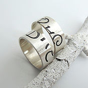 Украшения handmade. Livemaster - original item Wedding rings silver Secret (silver 925). Handmade.