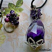 Украшения handmade. Livemaster - original item Set Amethyst pendant, ring. Handmade.