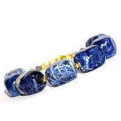 Украшения handmade. Livemaster - original item Bracelet genuine sodalite. Handmade.