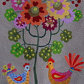 Картины и панно handmade. Livemaster - original item Embroidery .The miracle tree .. Handmade.