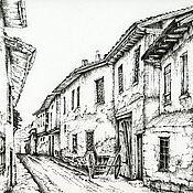Картины и панно ручной работы. Ярмарка Мастеров - ручная работа Улица старого города. Handmade.