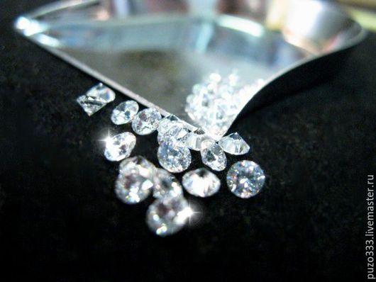 Для украшений ручной работы. Ярмарка Мастеров - ручная работа. Купить бриллиант 1,5 мм Кр-57. Handmade.