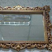"""Для дома и интерьера ручной работы. Ярмарка Мастеров - ручная работа Зеркало в раме из дерева """"Шарлотта"""". Handmade."""