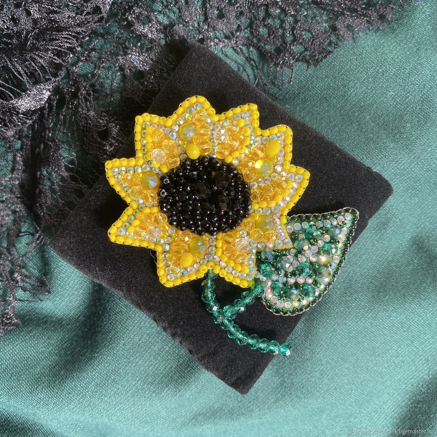 Brooch 'Sunflower', Brooches, Moscow,  Фото №1