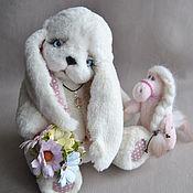 Teddy Toys handmade. Livemaster - original item Teddy Bunny sweet Pea. Handmade.