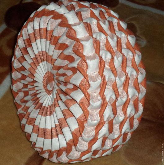 Текстиль, ковры ручной работы. Ярмарка Мастеров - ручная работа. Купить Подушка  интерьерная  -оранжевое лето. Handmade. Оранжевый, лен