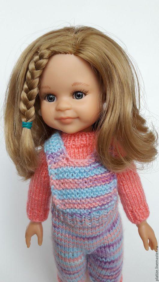 Одежда для кукол ручной работы. Ярмарка Мастеров - ручная работа. Купить Комплект для Paola Reina, бриджики на лямках и розовенький свитерок. Handmade.