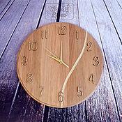 Для дома и интерьера ручной работы. Ярмарка Мастеров - ручная работа Часы дубовые Vein. Handmade.