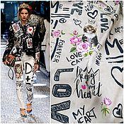 Материалы для творчества ручной работы. Ярмарка Мастеров - ручная работа НОВИНКА от Dolce & Gabbana 3 цвета сатин хлопок ткань Италии. Handmade.