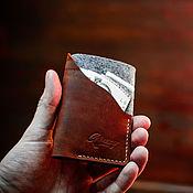 Визитницы ручной работы. Ярмарка Мастеров - ручная работа Кардхолдер, визитница из натуральной кожи -LITTLE ROCK- цвет Коньяк. Handmade.