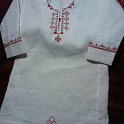 Русский стиль ручной работы. Ярмарка Мастеров - ручная работа рубаха для мальчика до 3 лет, с обереговым узором ручной вышивки. Handmade.