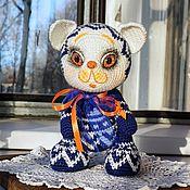 Куклы и игрушки handmade. Livemaster - original item Beautiful, Contrasting Cat Crocheted