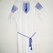 Русский стиль handmade. Livemaster - original item Women`s embroidered tunic. Handmade.