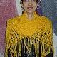 Шали, палантины ручной работы. Ярмарка Мастеров - ручная работа. Купить Макраме шаль желтая Солнечное Настроение. Handmade. Желтый