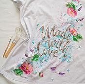Одежда ручной работы. Ярмарка Мастеров - ручная работа Футболка для беременной Сделано с любовью Резерв. Handmade.