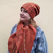 Аксессуары handmade. Livemaster - original item Headwear sets: hat and scarf made of Red wool. Handmade.