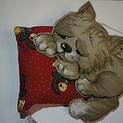Чердачная кукла ручной работы. Ярмарка Мастеров - ручная работа Котик на подушке. Handmade.
