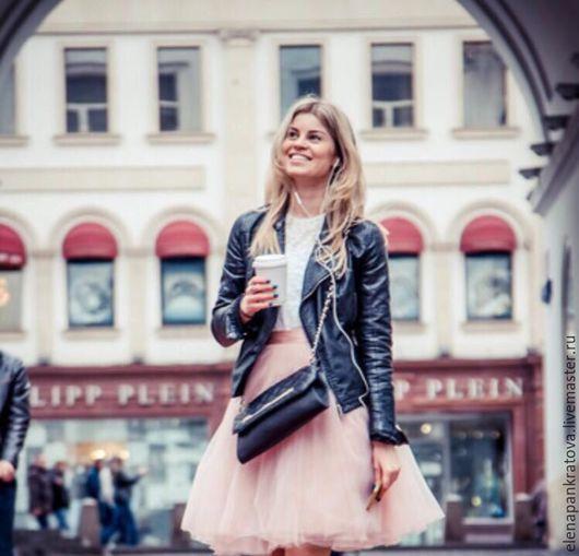 Юбки ручной работы. Ярмарка Мастеров - ручная работа. Купить юбка пачка из фатина. Handmade. Бледно-розовый