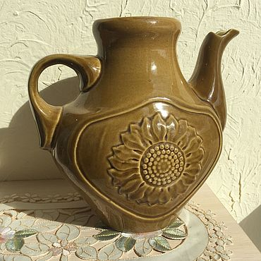 Винтаж ручной работы. Ярмарка Мастеров - ручная работа Большой глиняный интерьерный чайник. Handmade.