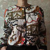Одежда ручной работы. Ярмарка Мастеров - ручная работа Бомбер стеганый жакет. Handmade.