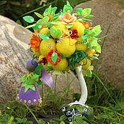 Цветы и флористика handmade. Livemaster - original item Magic tree wool and fairy Daisy (topiary). Handmade.