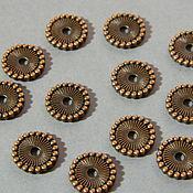 Материалы для творчества handmade. Livemaster - original item Beads separators, the color of copper.pc. Handmade.
