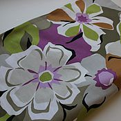 Материалы для творчества handmade. Livemaster - original item Fabric Colorful flowers. graffiti. Handmade.