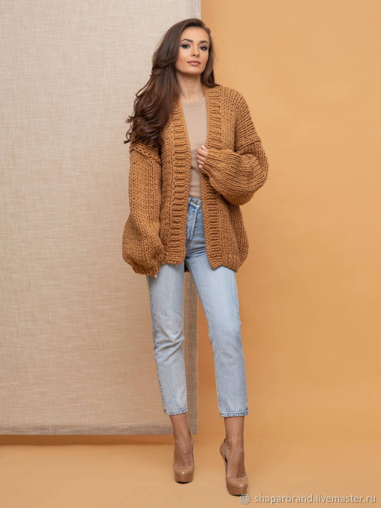 Brown Women's Cardigan, Cardigans, Moscow,  Фото №1