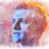 Картины и панно ручной работы. Ярмарка Мастеров - ручная работа Портрет по фото (Josef Salvat). Handmade.