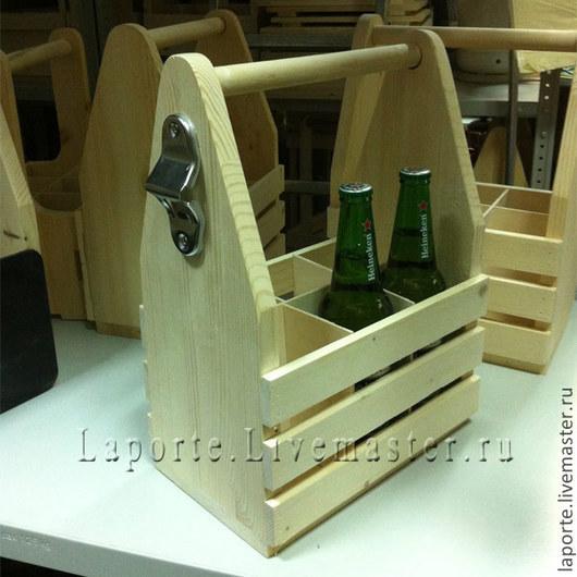 Декупаж и роспись ручной работы. Ярмарка Мастеров - ручная работа. Купить Деревянный ящик для пива, с открывалкой. Handmade. Желтый