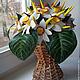 Интерьерные композиции ручной работы. Заказать Солнечный цветок - подсолнух. Анна Чепелева. Ярмарка Мастеров. Подарок на день рождения