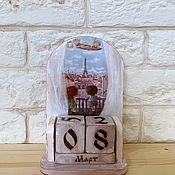Канцелярские товары handmade. Livemaster - original item Perpetual Calendar Window to Paris. Handmade.