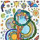 """Детская ручной работы. Ярмарка Мастеров - ручная работа. Купить Ростомер """"Бразивстралия"""". Handmade. Разноцветный, интерьерные наклейки, коала, яркий"""