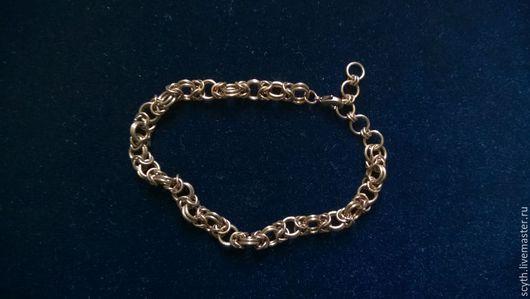 Браслеты ручной работы. Ярмарка Мастеров - ручная работа. Купить Ажурный бронзовый браслет. Handmade. Бронза, кольчужный браслет