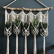Кашпо ручной работы. Ярмарка Мастеров - ручная работа Кашпо для цветов подвесное. Handmade.