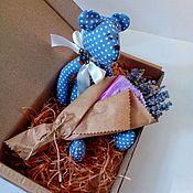 Букеты ручной работы. Ярмарка Мастеров - ручная работа Букет лаванды и мишка Тильда в подарок маме подруге сестре идея декора. Handmade.