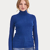 Одежда handmade. Livemaster - original item Turtleneck in ribbed knit bamboo and cashmere