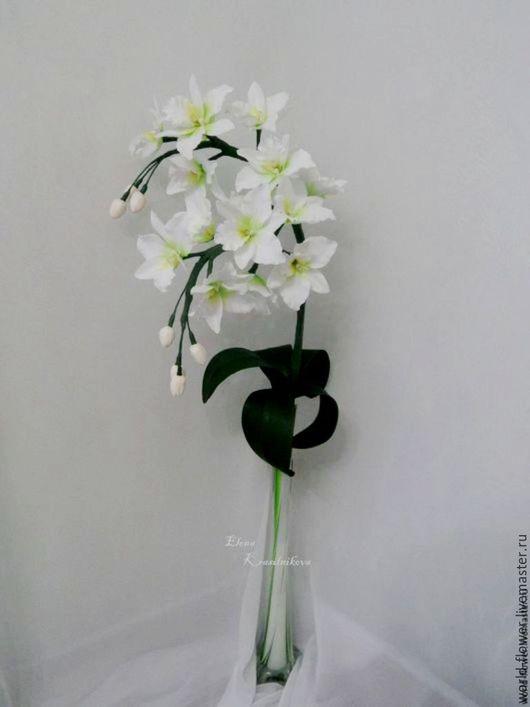 """Освещение ручной работы. Ярмарка Мастеров - ручная работа. Купить Букет-светильник """"Белая Орхидея"""". Handmade. Белый, освещение, орхидеи"""