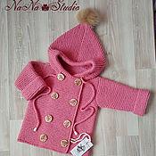 Работы для детей, handmade. Livemaster - original item Knitted cardigan for girls. Handmade.