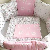Бортики в кроватку ручной работы. Ярмарка Мастеров - ручная работа Комплект в кроватку в наличии. Handmade.