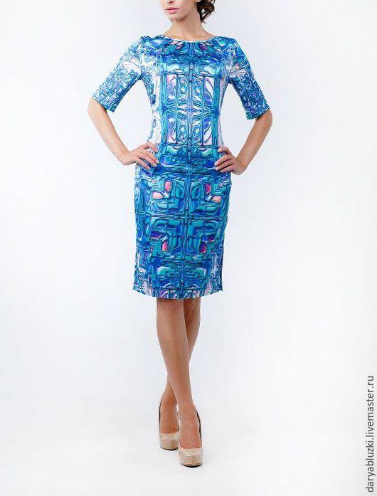 """Платья ручной работы. Ярмарка Мастеров - ручная работа. Купить Платье """"Яркая мозайка"""". Handmade. Комбинированный, красивое платье, наряд"""