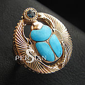 Украшения handmade. Livemaster - original item Gold finger-ring the scarab. Handmade.