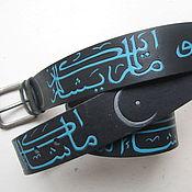 Аксессуары handmade. Livemaster - original item INSHALLAH strap leather. Handmade.