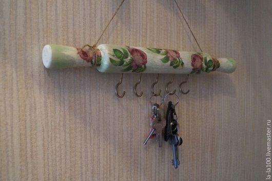 Прихожая ручной работы. Ярмарка Мастеров - ручная работа. Купить Вешалка, ключница - Розы. Handmade. Салатовый, необычная ключница