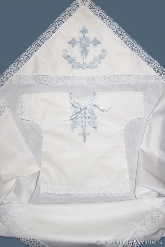 цвет вышивки голубой