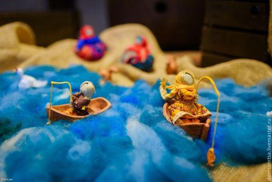 """Народные куклы ручной работы. Ярмарка Мастеров - ручная работа. Купить Куклы-образы """"Ух, ты! Золотая рыбка."""". Handmade."""