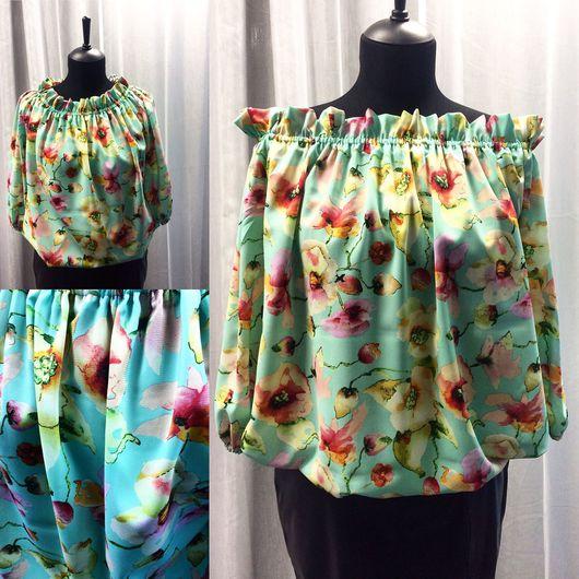 """Блузки ручной работы. Ярмарка Мастеров - ручная работа. Купить Блуза """"Весеннее утро"""". Handmade. Блузка, блуза женская"""