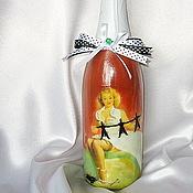 Сувениры и подарки ручной работы. Ярмарка Мастеров - ручная работа Декорирование напитков (возможно с фото) Подарок любимой блондинке. Handmade.